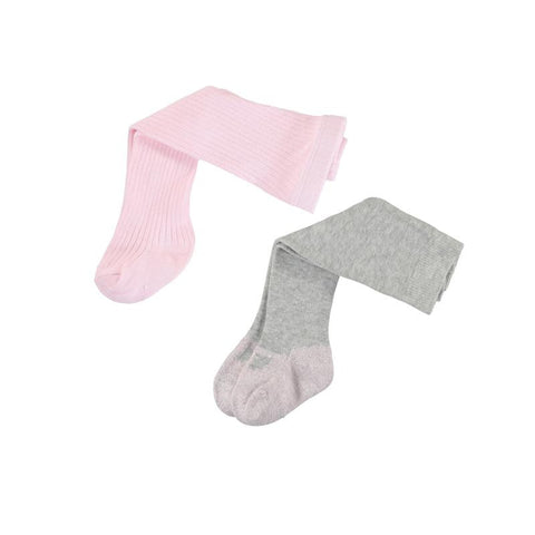 Baby Girls Rose Pink 2 Pack Tights - Kizzies, Tights - Childrens Wear