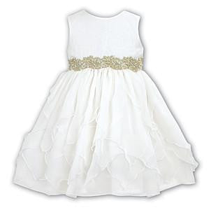 Ceremonial Ballerina Length Dress Ivory - Kizzies, Dresses - Childrens Wear