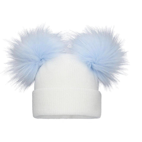DOUBLE BABY KNIT White/Blue