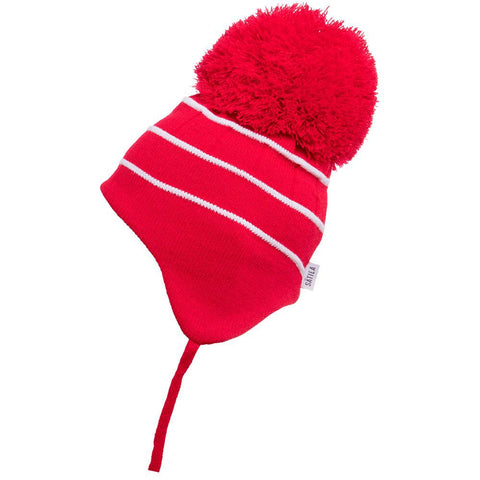 Satila Bobby Red Pom Pom Hat - Kizzies, Hats - Childrens Wear