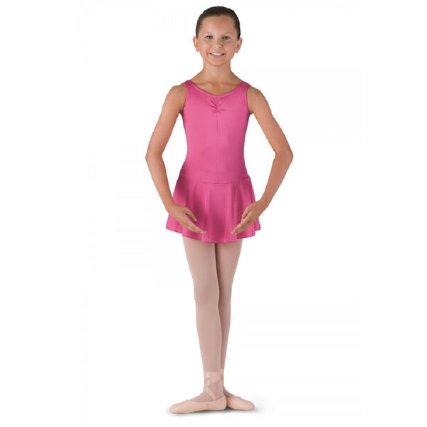 Bloch BU902C Rose Pink Skirted Leotard - Kizzies, Leotard - Childrens Wear