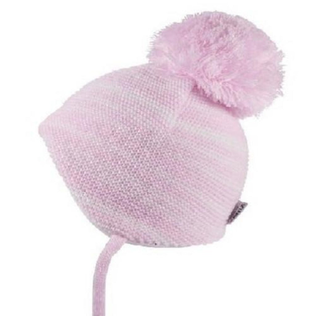 Satila C02912 Baby Pink Stripe Pom Hat - Kizzies, Hats - Childrens Wear