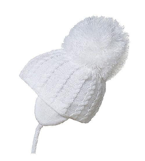 Satila Laura White Pom Pom Hat - Kizzies, Hats - Childrens Wear