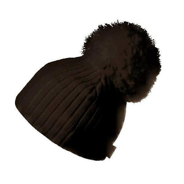 Satila Park C61822 Grey Pom Pom Hat - Kizzies, Hats - Childrens Wear