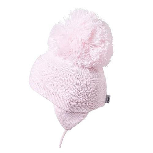 Satila Diamond C71815 Pink Pom Pom Hat - Kizzies, Hats - Childrens Wear
