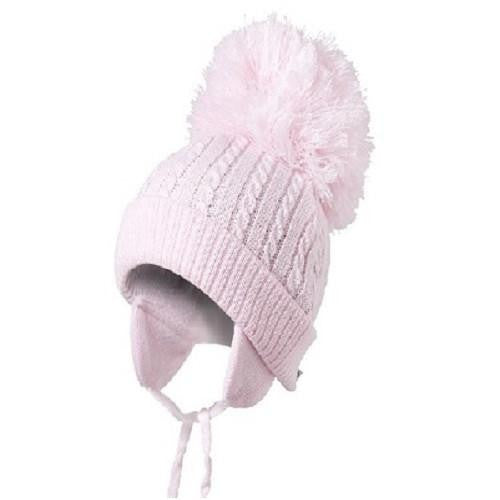 Satila Twine C74804 Pink Pom Pom Hat - Kizzies, Hats - Childrens Wear