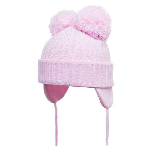 Satila Minnie C74812 Pink Pom Pom Hat - Kizzies, Hats - Childrens Wear
