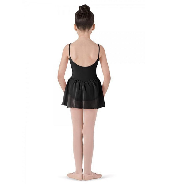 Leotard with attached Chiffon Skirt Black