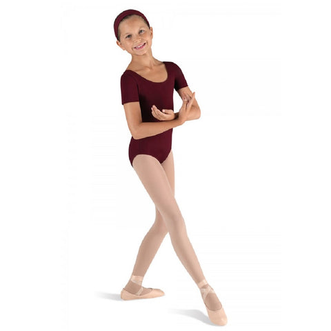 Short Sleeve Leotard Burgundy - Kizzies, Leotard - Childrens Wear