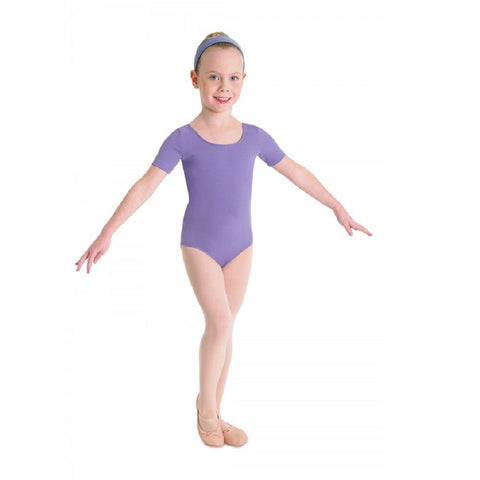 Short Sleeve Leotard Lavender - Kizzies, Leotard - Childrens Wear