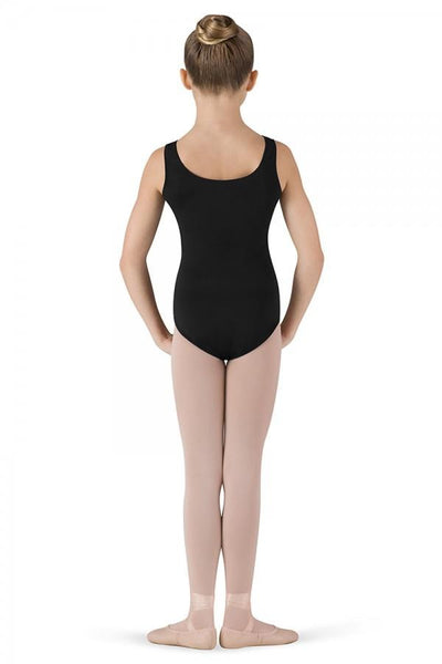 Round Neck Tank Leotard Black - Kizzies, Leotard - Childrens Wear