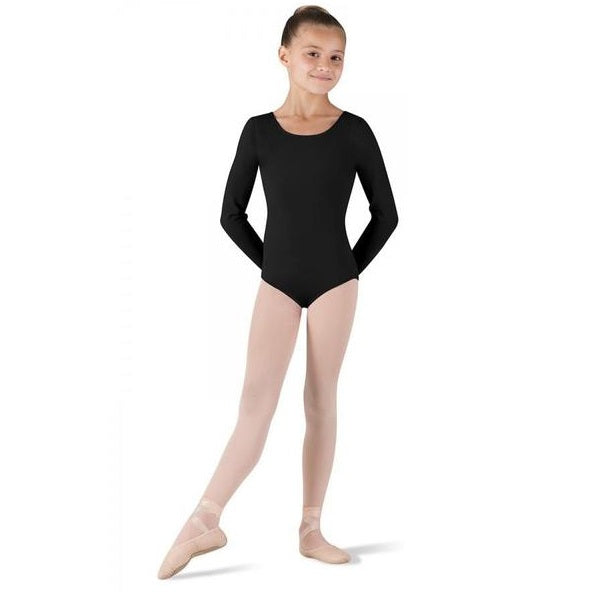 Girls Long Sleeved Black Leotard - Kizzies, Leotards - Childrens Wear