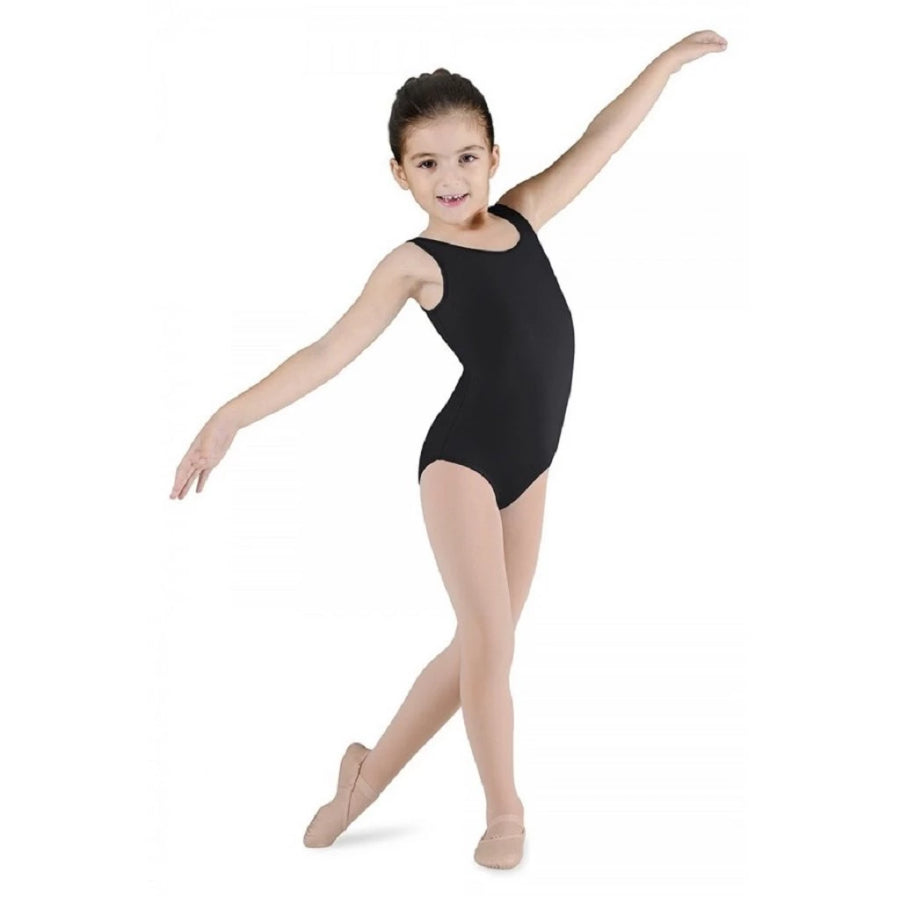 Bloch CL5605 Black Dynamic Tank Leotard - Kizzies, Leotard - Childrens Wear