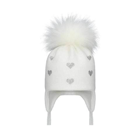 POM POM ENVY HEARTS White
