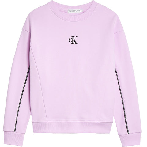 CK Girls Piping Boxy Sweatshirt