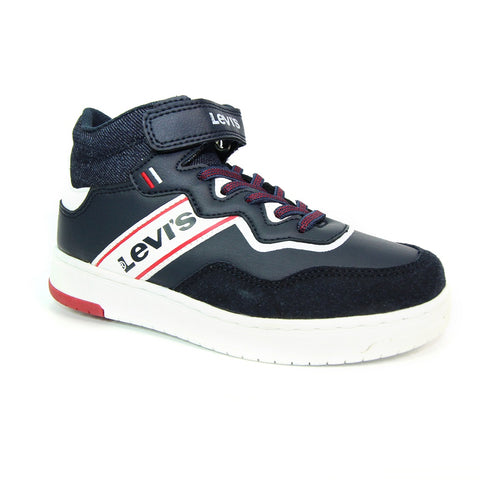 IRVING KIDS Hi Top Trainers Navy