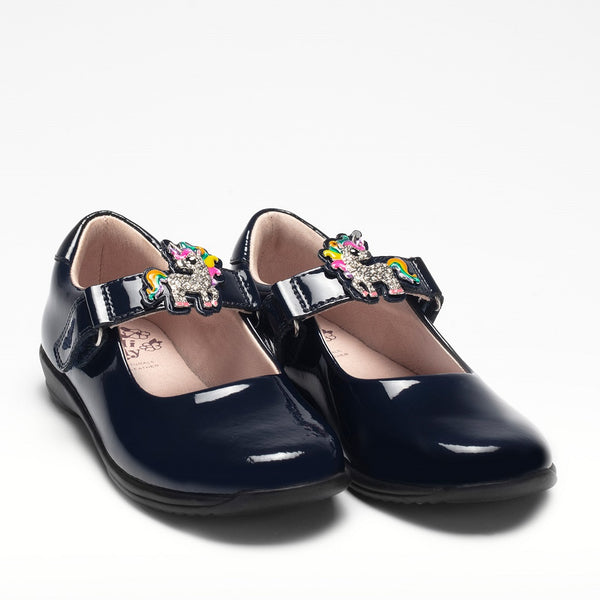 Lelli Kelly Navy Patent Leather Shoes | School Shoes | Kizzies