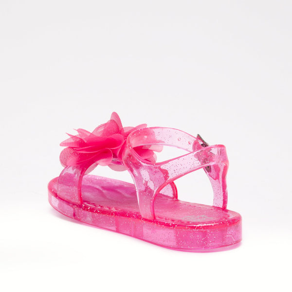 FIORE Sparkle Jelly Sandals Raspberry - Kizzies, Sandals - Childrens Wear