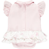 LITTLE A Flamingo Frilly Romper