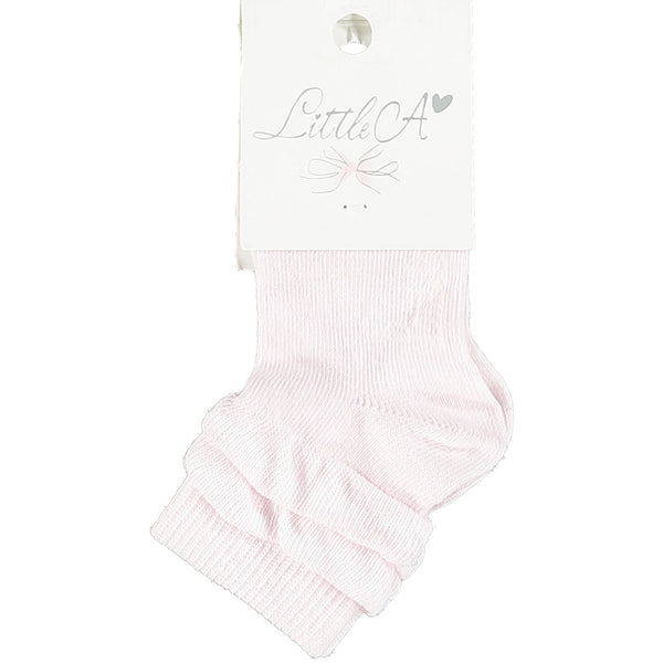 Little A Frilly Ankle Socks Pink
