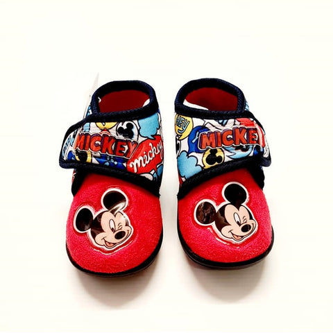 Mickey Mouse Slippers Red
