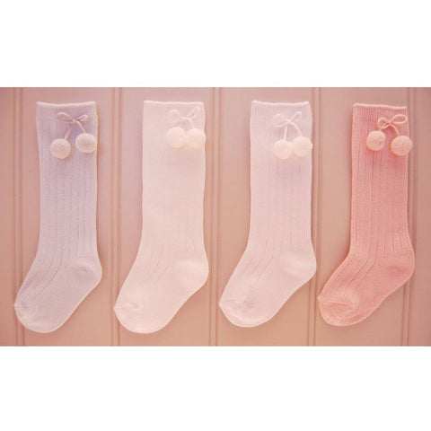 POLKA Knee High Socks Pink