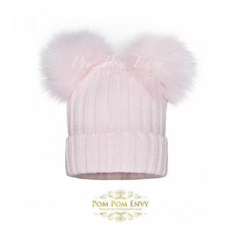 Pom Pom Envy Hat Double Dream Pink - Kizzies, Hats - Childrens Wear