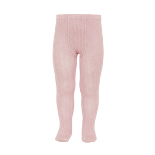 Condor Pink Ribbed Knit Tights - Kizzies, Tights - Childrens Wear