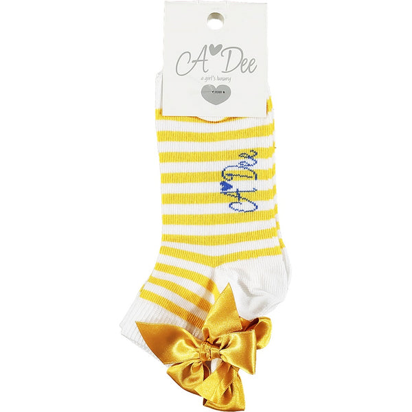ADEE Porto Ankle Socks Yellow