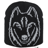 Satila Wolf Black Beanie Hat - Kizzies, Hats - Childrens Wear