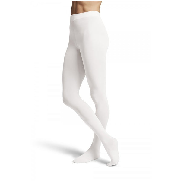 Girls White Footed Dance Tights - Kizzies, Tights - Childrens Wear