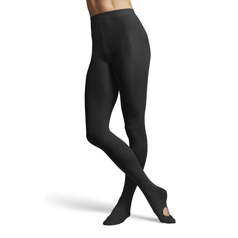 Girls Convertible Dance Tights Black