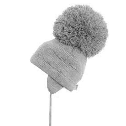 Satila Tuva Grey Pom Pom Hat - Kizzies, Hats - Childrens Wear