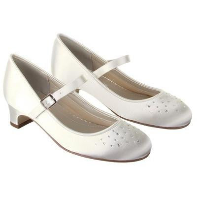 Rainbow Club White Satin Shoes Verity - Kizzies, Shoes - Childrens Wear