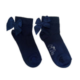 Bow Ankle Socks Navy
