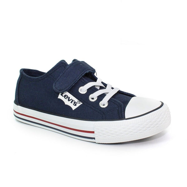 Levi's Kids Navy Trucker Low Elastic Trainer | Kizzies