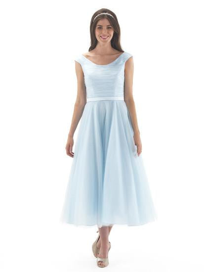 Satin & Tulle Dress Ice Blue - Kizzies, Dresses - Childrens Wear
