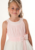 Chiffon Bodice Tulle Skirt Flower Girl Dress - Kizzies, Dresses - Childrens Wear