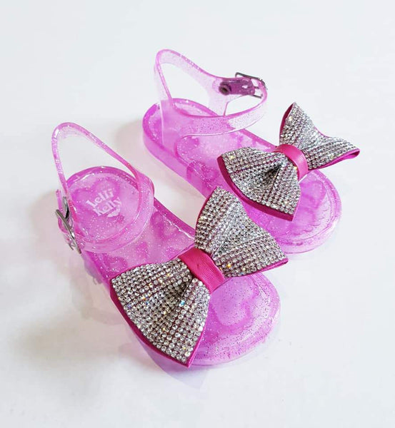 Baby Girls LELLI KELLY Sparkly Sandals Raspberry - Kizzies, Sandals - Childrens Wear