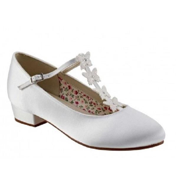 Rainbow Club White Satin Butterfly Shoes Lolly | Kizzies