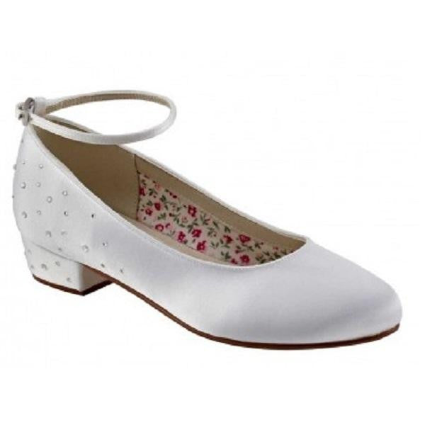 Rainbow Club White Satin Shoes Maple - Kizzies, Shoes - Childrens Wear