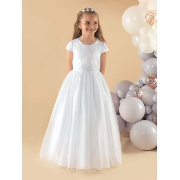 Short Sleeve Tulle Dress SIENNA - Kizzies, Dresses - Childrens Wear