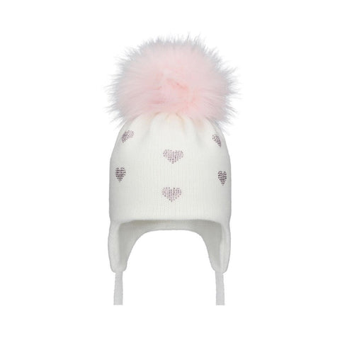 POM POM ENVY HEARTS White/Pink