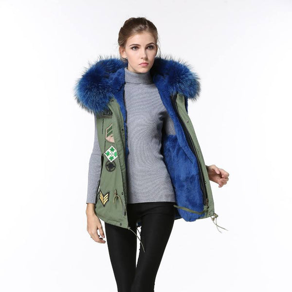 Parka Style Fur Gilet Army Style -  - 2