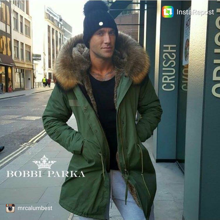 add2beb0f6 ... Mens Faux Fur Collar Parka Jacket with Natural Faux Fur 3/4 - - ...