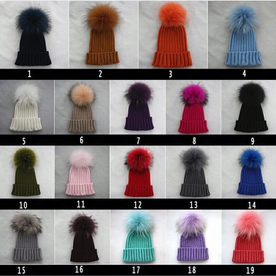 Replacement pom pom for our range of bobble hats and scarfs -
