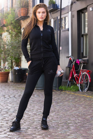 Bobbi Parka Ladies Black Full Tracksuit