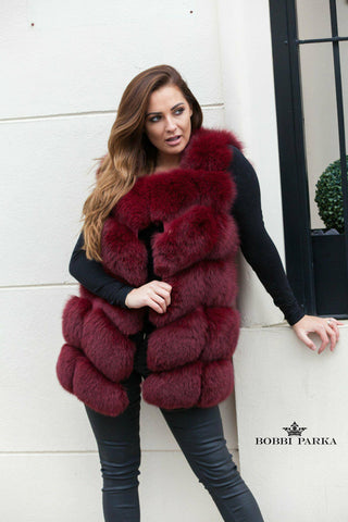 Luxury Gilet - Deep Red