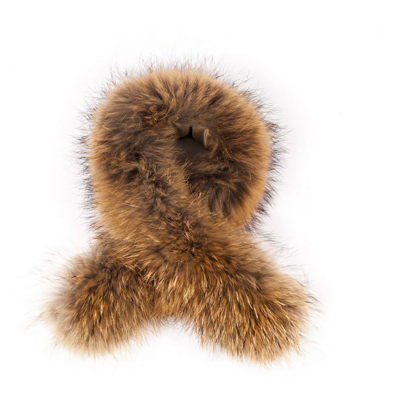 ADDITIONAL RACCOON FUR OVER-SIZED HOOD/COLLAR TRIM -  - 2