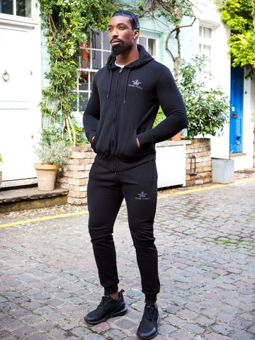 Bobbi Parka Mens Black Full Tracksuit